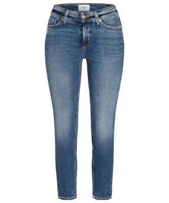 Jeans Piper short von Cambio in blue denim