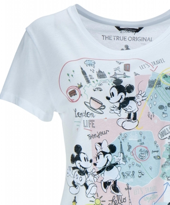 Shirt Mickey travel in weiss